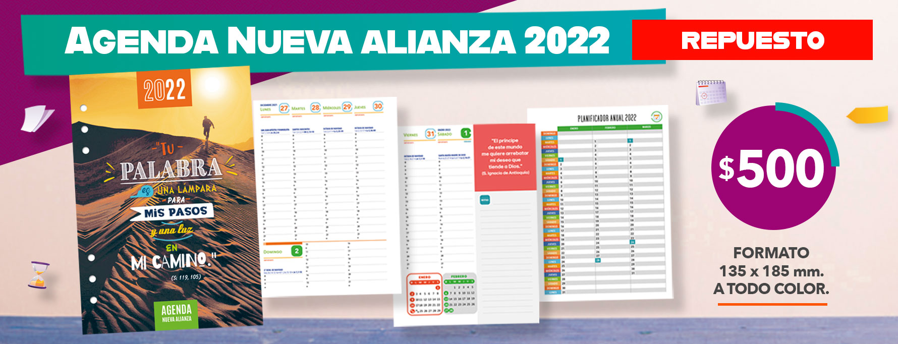 AGNA 2022 anillada desk